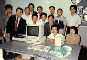 前列右端がコンピューター教室に通っていた当時の春代