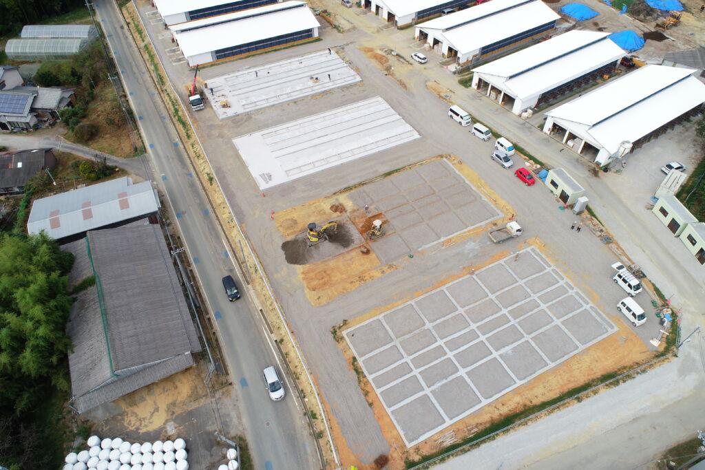 JP MEGA FARM繁殖牛舎・堆肥舎建築工事